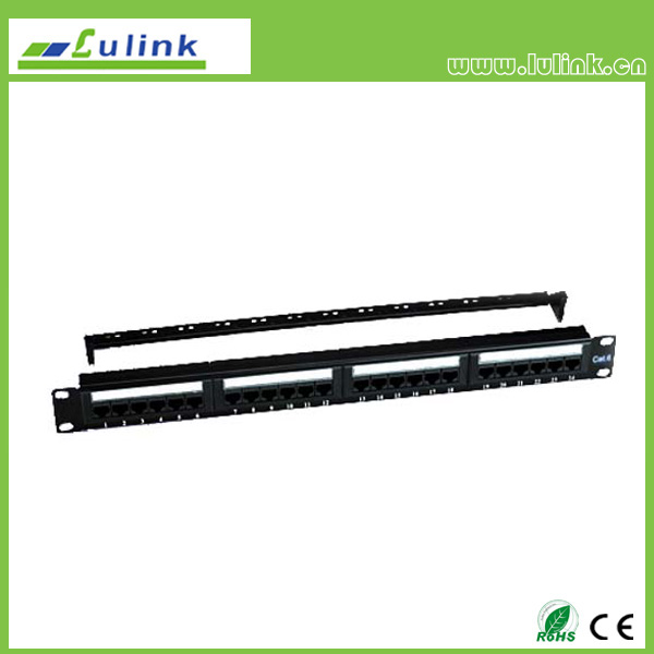 Cat6 UTP 24PORT Patch Panel With Bar(Double USE End)