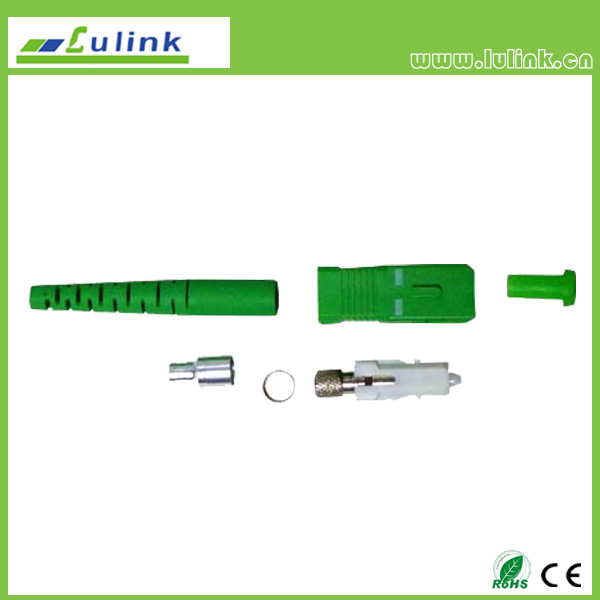 SC  Fiber Optic Connector,APC ,SIMPLEX,0.9MM/2.0MM/3.0MM