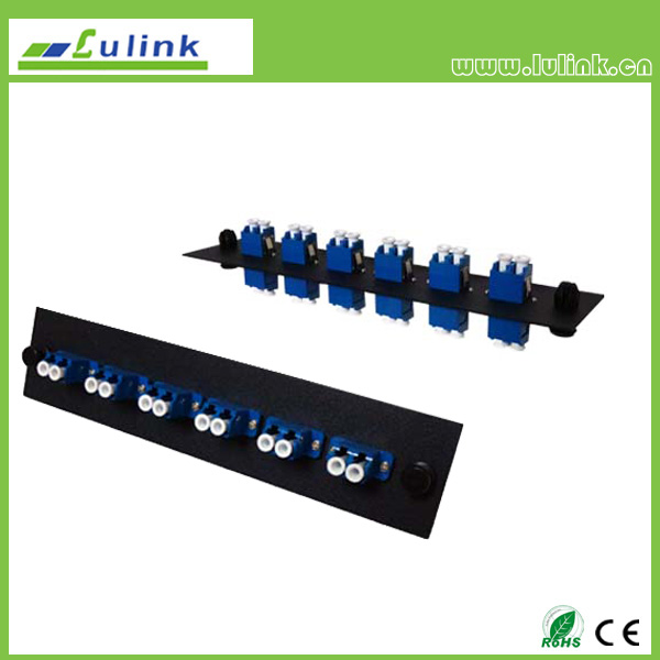 Fiber Optic Adapter Panel,LC type,6 ports,duplex,with SM adapter