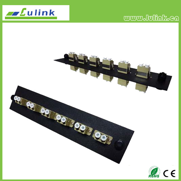 Fiber Optic Adapter Panel,LC type,6 ports,duplex,with MM adapter