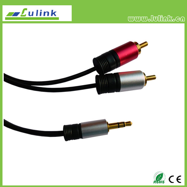 3.5mm stereo to 2RCA plug  Cable