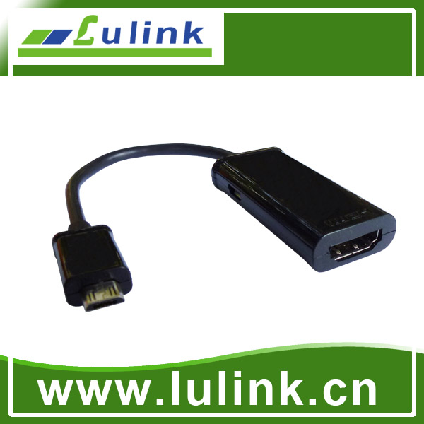 MHL cable(MICRO USB M TO HDMI F)