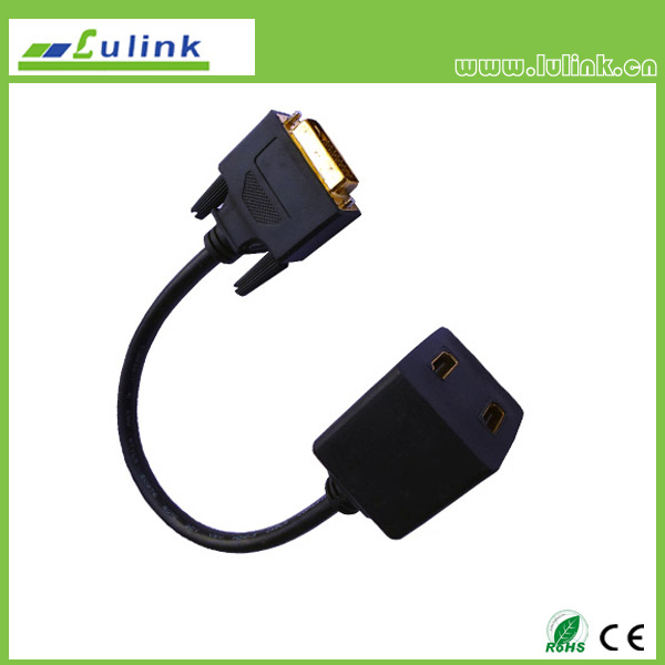 DVI 24+1 M/HDMI 19PIN M*2 Cable