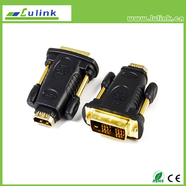 HDMI FEMALE TO DVI(18+1) MALE  Adapter