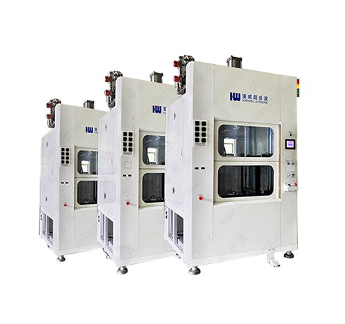 Quick change mold hot plate welding machine