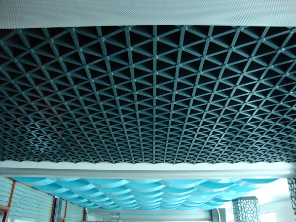 triangle grid ceiling