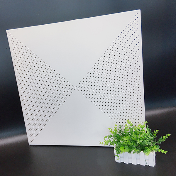 Triangular flower aluminum plate