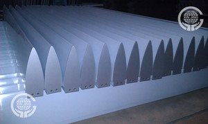 Bullet type sunshade louver