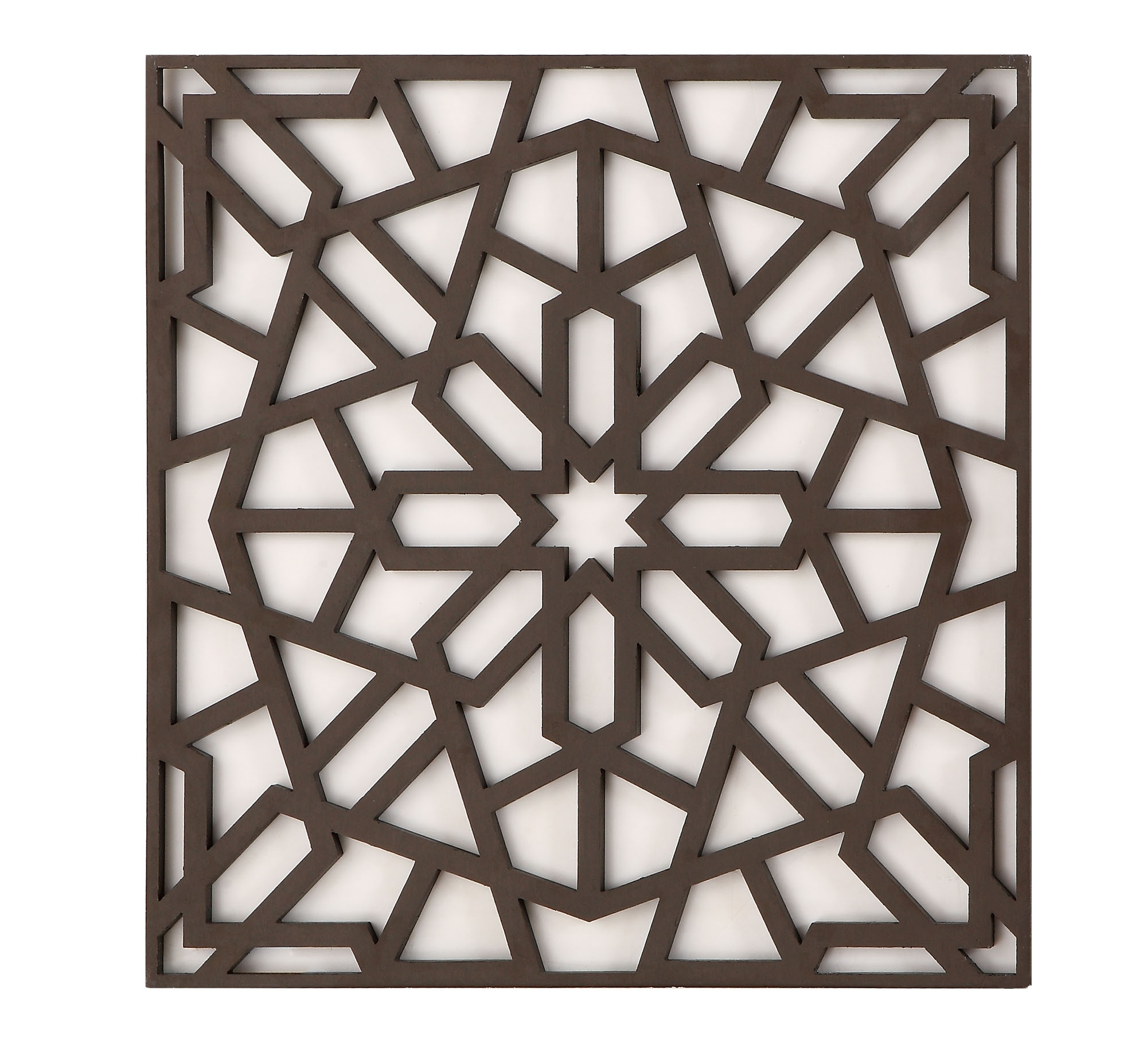 Decorative flower-shaped aluminum alloy carved plate square plate