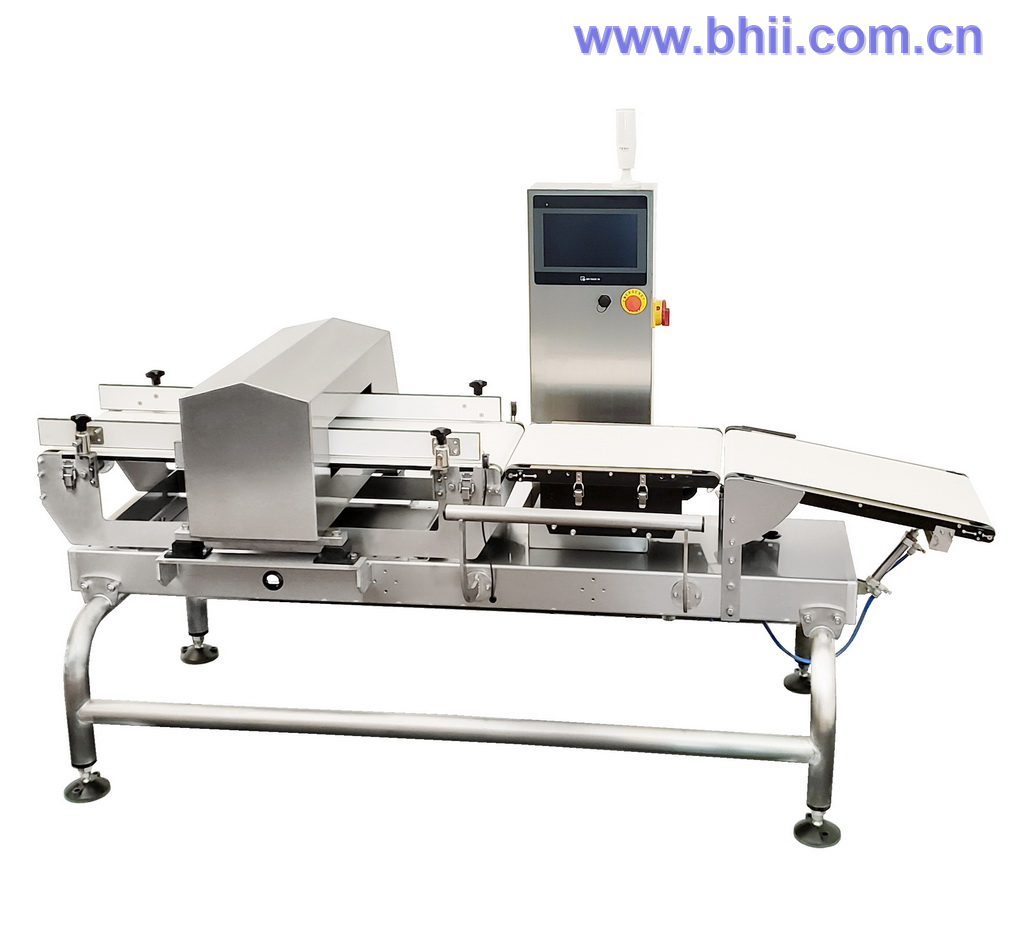 Combo - Metal Detector Checkweigher  (Integrated HMI) for food/cosmetic/confectionary/snack