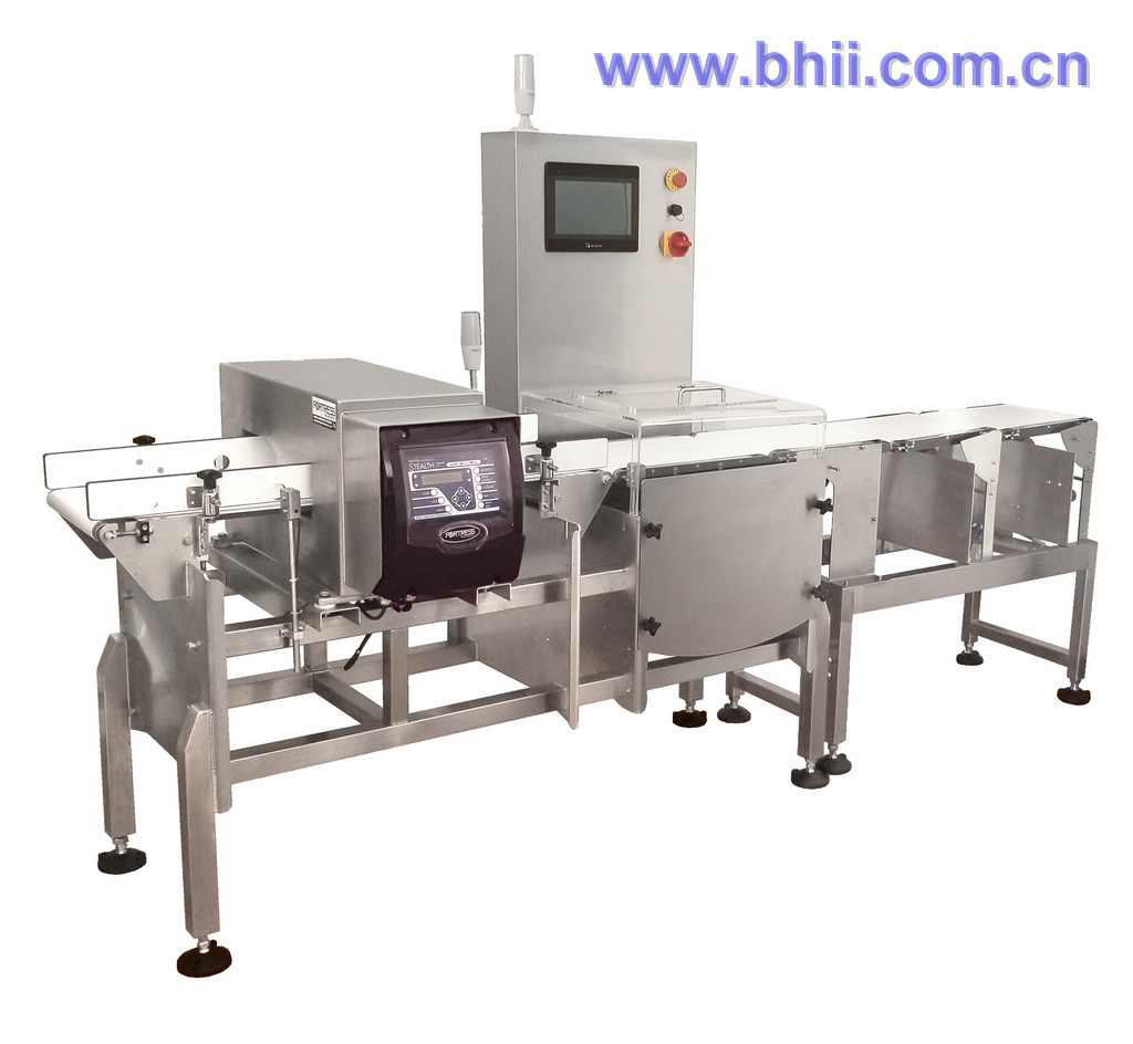 Combo - Mixed brand Metal Detector with Checkweigher for food/meat/poultry/confectionary/fruit