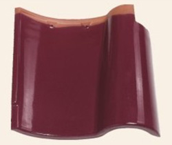 glossy glaze rose red203