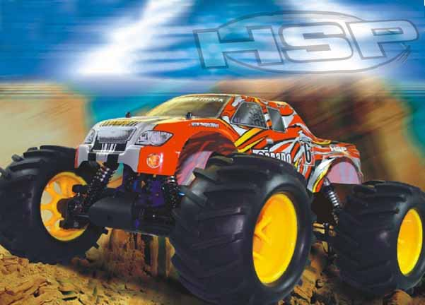 1/8 SCALE BRUSHLESS POWERED 4WD MONSTER TRUCK(NO:94083E9)