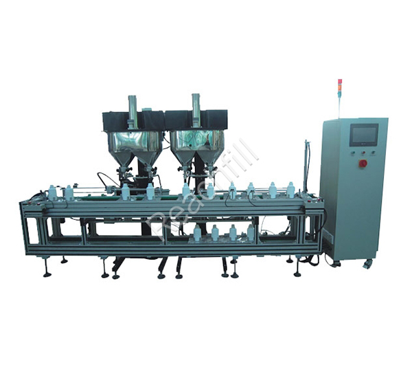 WQ-AL4000 four head automatic powder filling production line