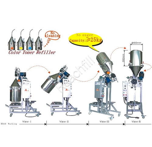 WQ-RB18dust free toner powder filling machine
