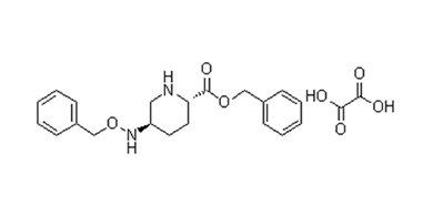 (2S,5R)-5-[(benzyloxy)amino]piperidine-2-carboxylic acid benzyl ester ethanedioate
