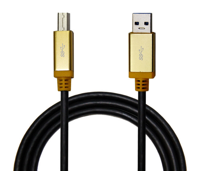 USB AM to USB BM Cable with Colorful Metal Shell