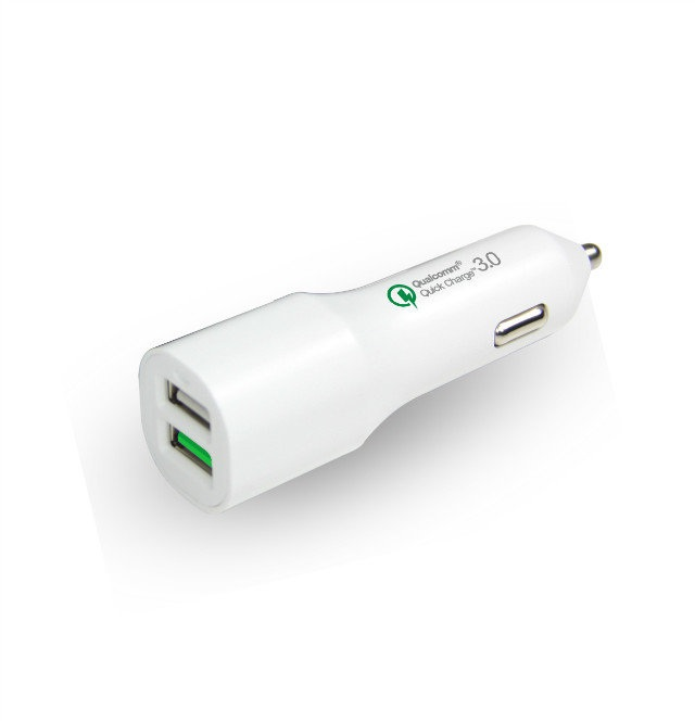 QC 3.0 Dual USB Car Charger