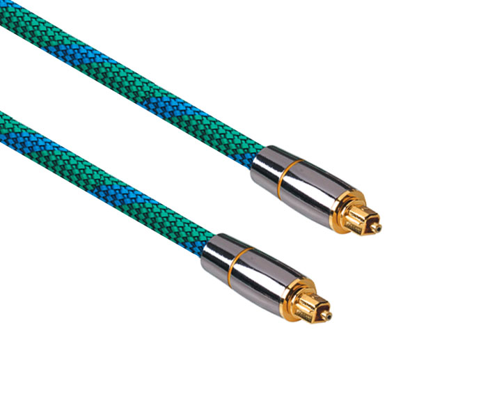 Professional Digital Optical TOSlink Cable with Nylon Braid