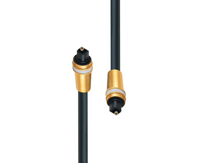 Professional Toslink Cable With Dual Color Metal Mould