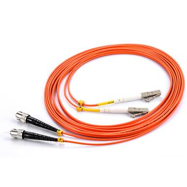 LC-ST Duplex MM Fiber Optic Patch Cord