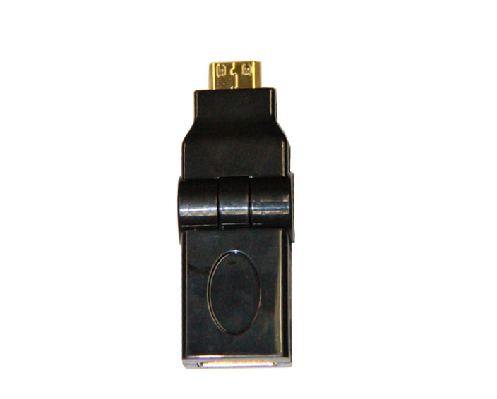 HDMI A Female to HDMI C Male Adapter -Rotary 90°