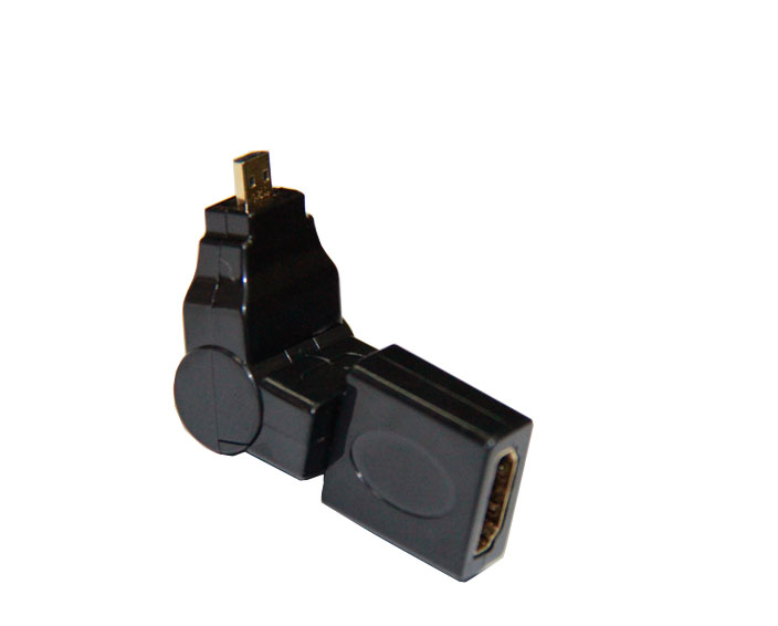 HDMI A Female to HDMI D Male Adapter -Rotary 360°