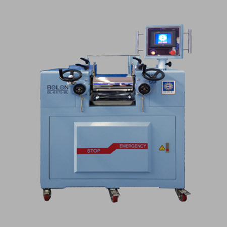 LABORATORY ROLL MILL(oil heating cooling/PLC programming Controller type)