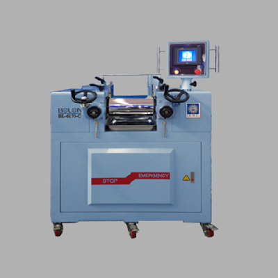 RUBBER LABORATORY ROLL MILL/PLC PROGRAMMING CONTROLLER TYPE
