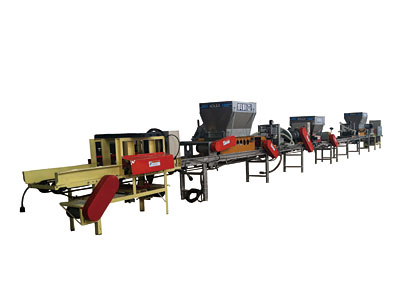 Sowing rice disc shifting production line