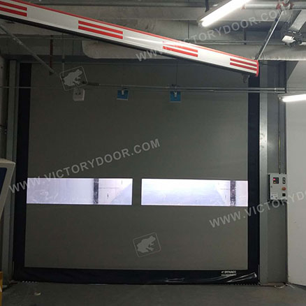 Energy-saving soft high speed door