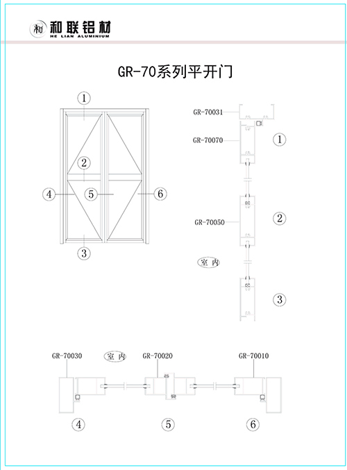 GR-70 series swing door