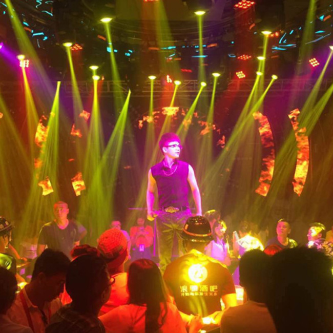 Performing bar lighting