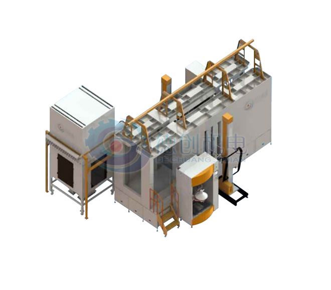 Sandwich open hand repair platform PP spray booth independent filter recycling system