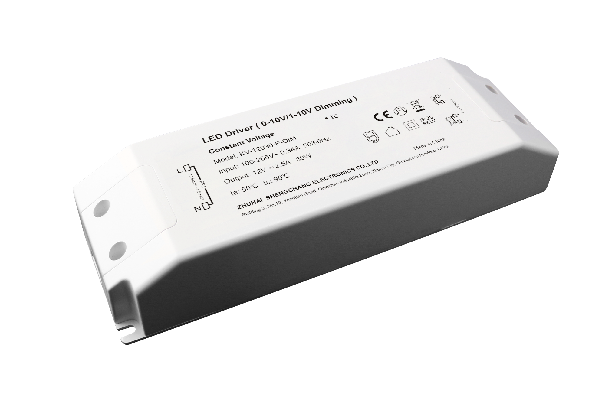 30W 0/1-10V constant voltage dimmable LED driver
