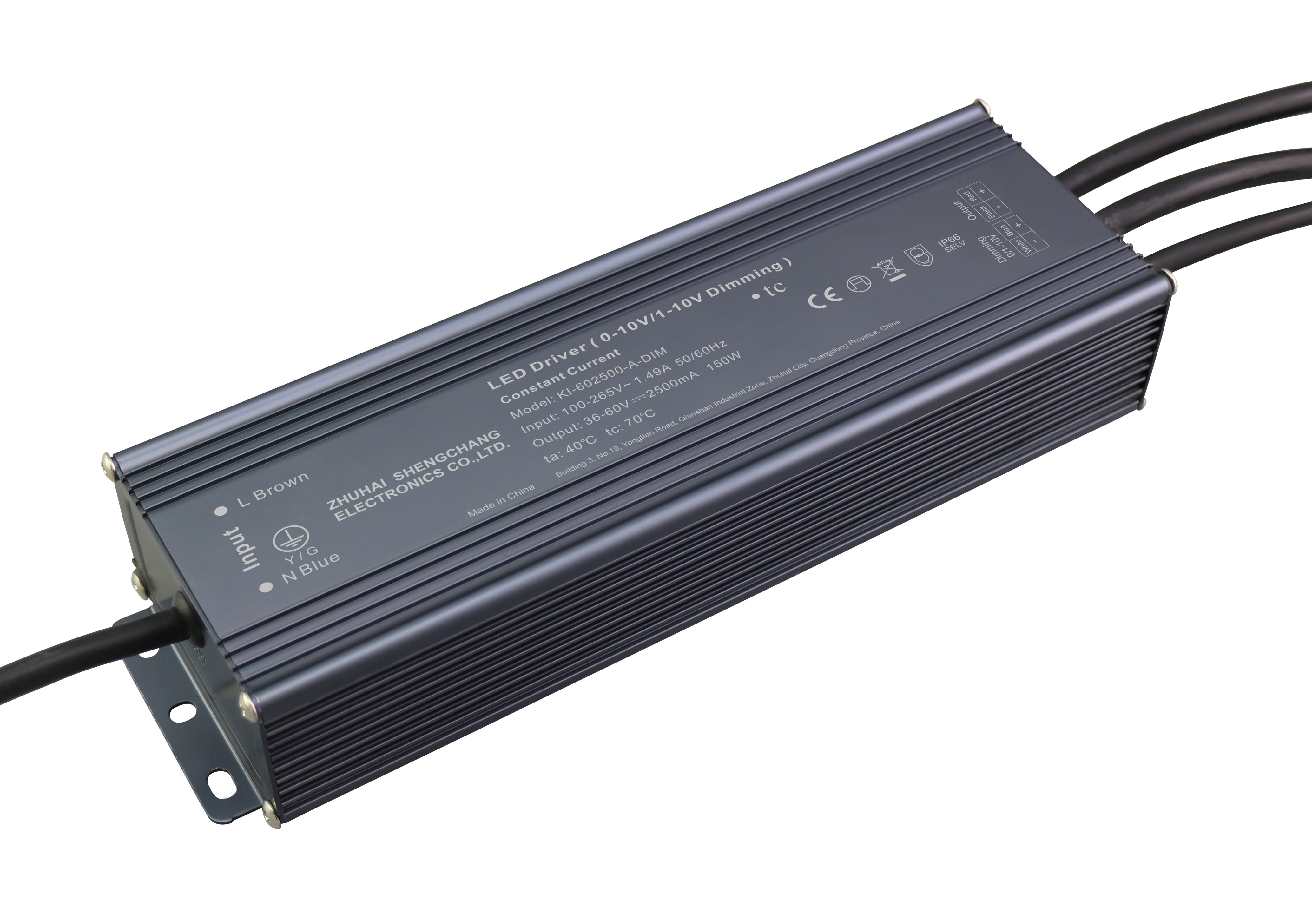 150W 0/1-10V constant current dimmable LED driver