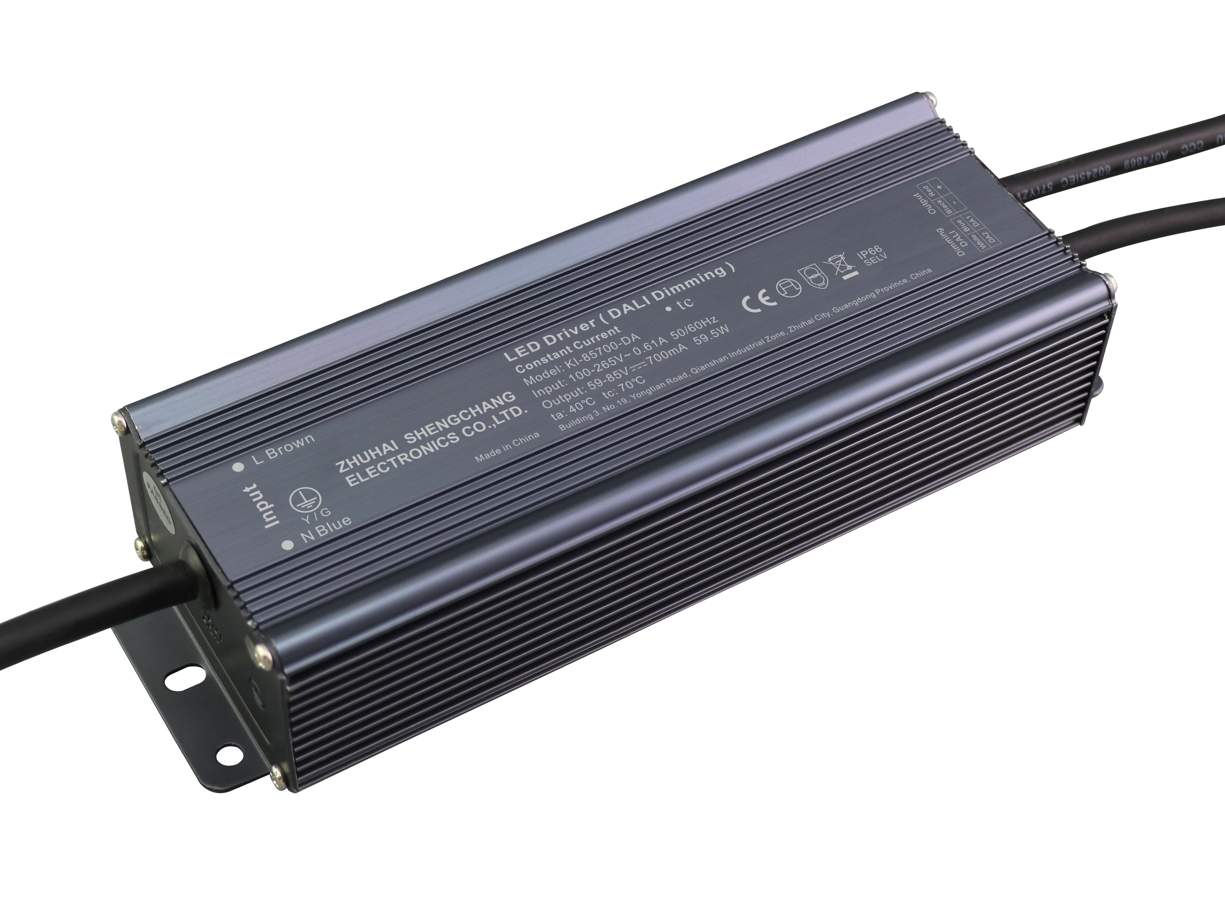 60W DALI constant current dimmable LED driver
