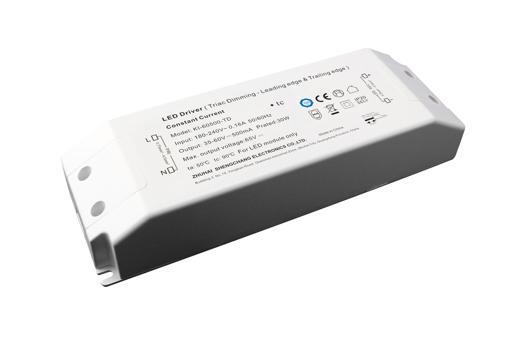 220VAC KI series 30W constant current Triac dimmable driver
