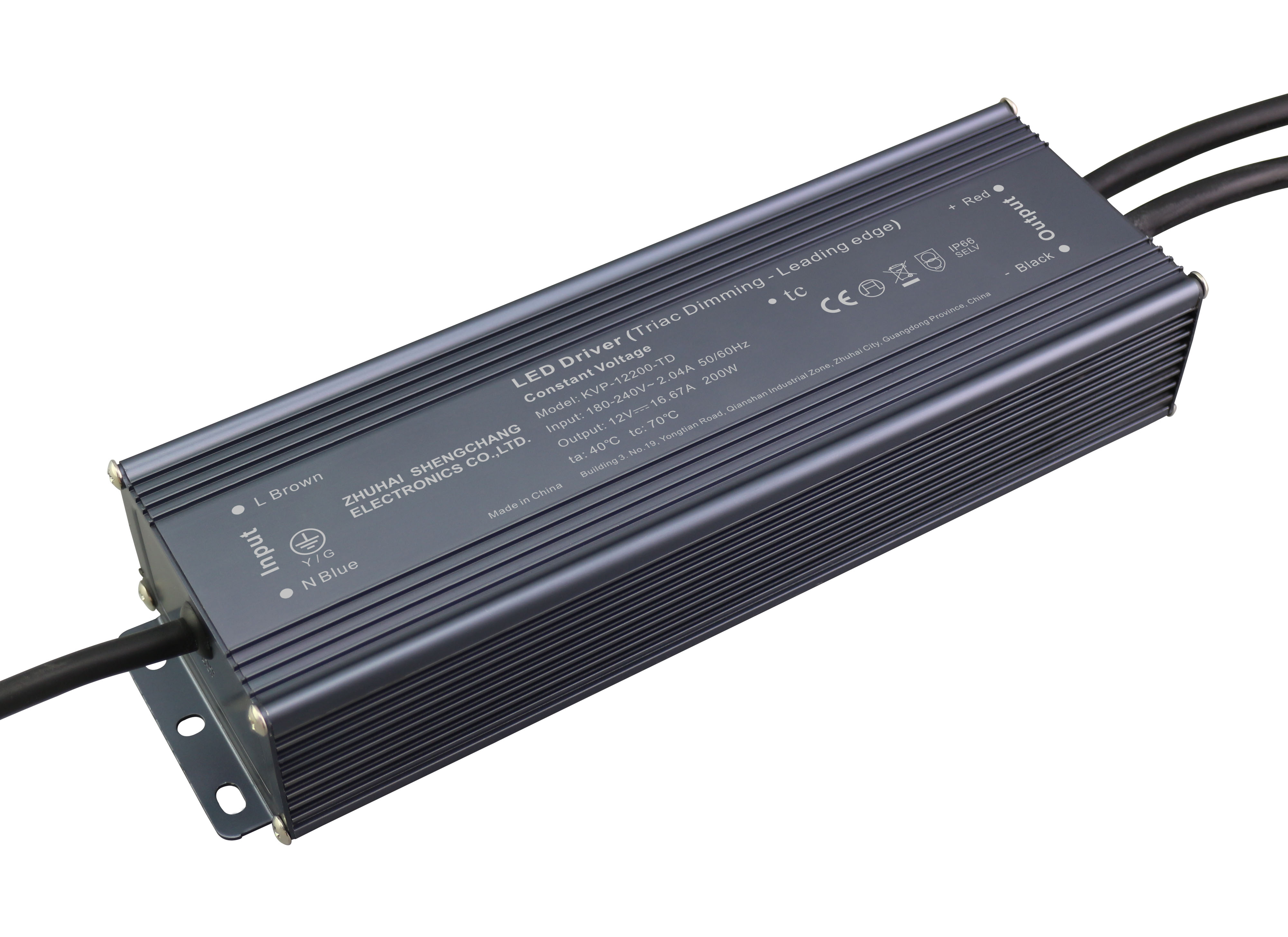 220VAC KVP series 200W constant voltage triac LED driver