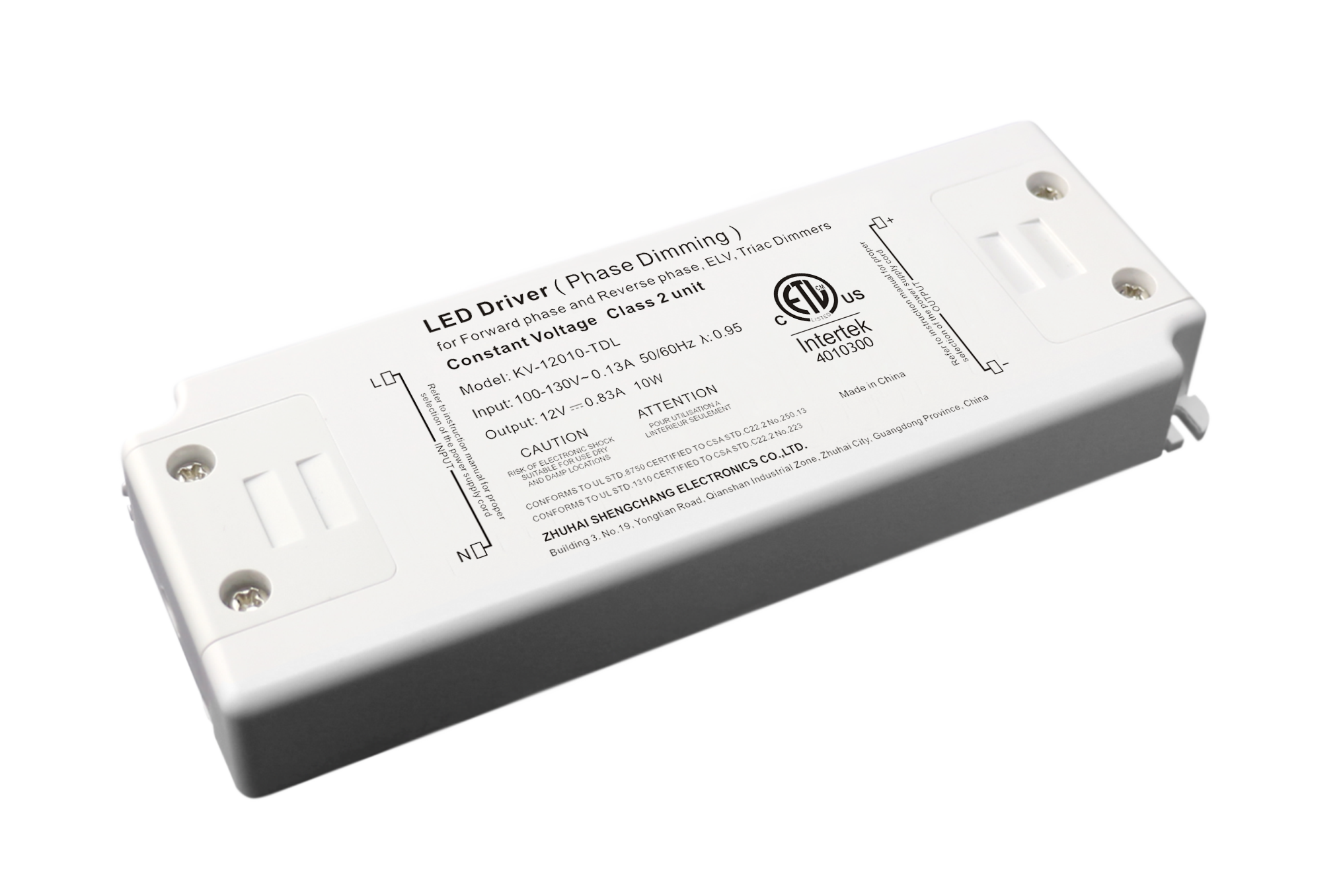 120VAC KV series 10W constant voltage triac LED driver