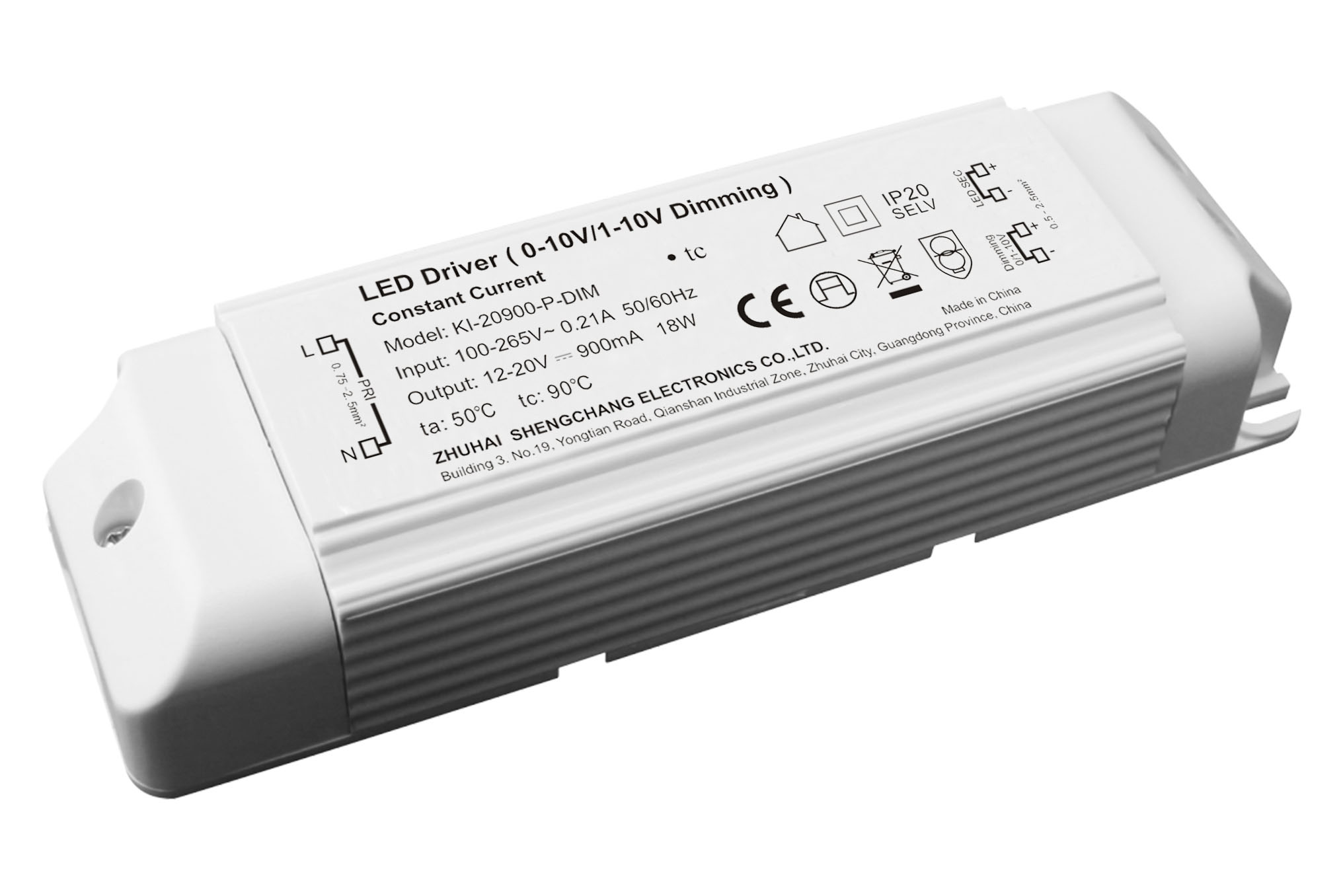 20W 0/1-10V constant current dimmable LED driver