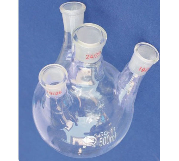 6. BOILING FLASK round bottom with 4 necks,standard