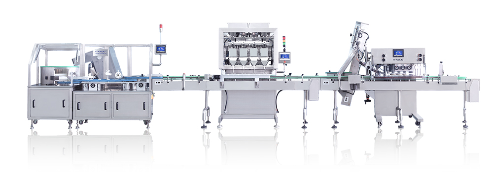 Fully intelligent pill packaging production line
