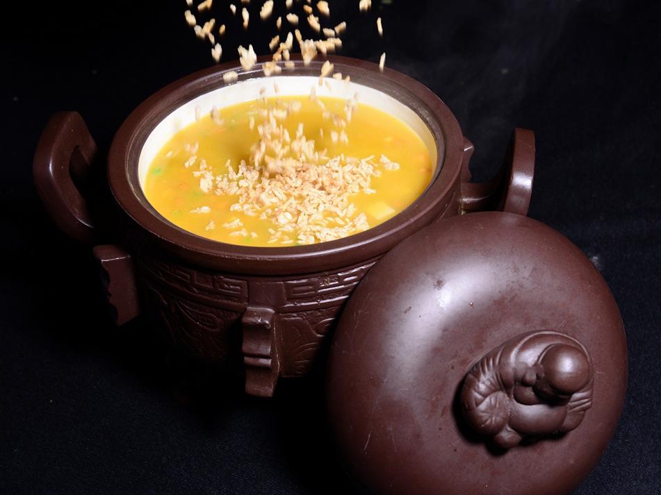 豆汤脆香米