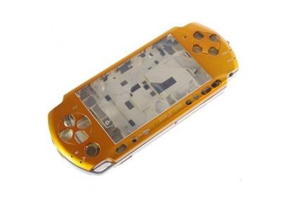 PSP 3000 Complete Housing Shell Case Golden