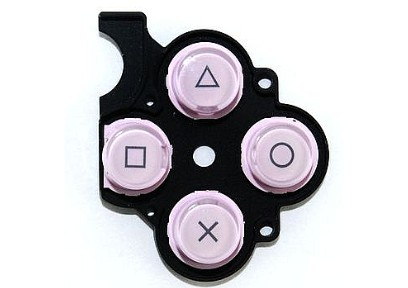 PSP 2000 Slim Button Rubber (Pink)