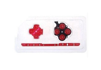 PSP 2000 Slim Button Rubber (Red)