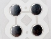 Right direction button contactor for 3ds xl