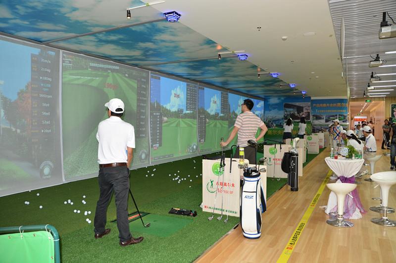 广东东莞永冠室内高尔夫学院大厅单屏项目五