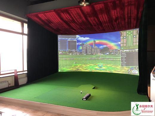 黑龙江哈尔滨松北区公司室内�K高尔夫项目